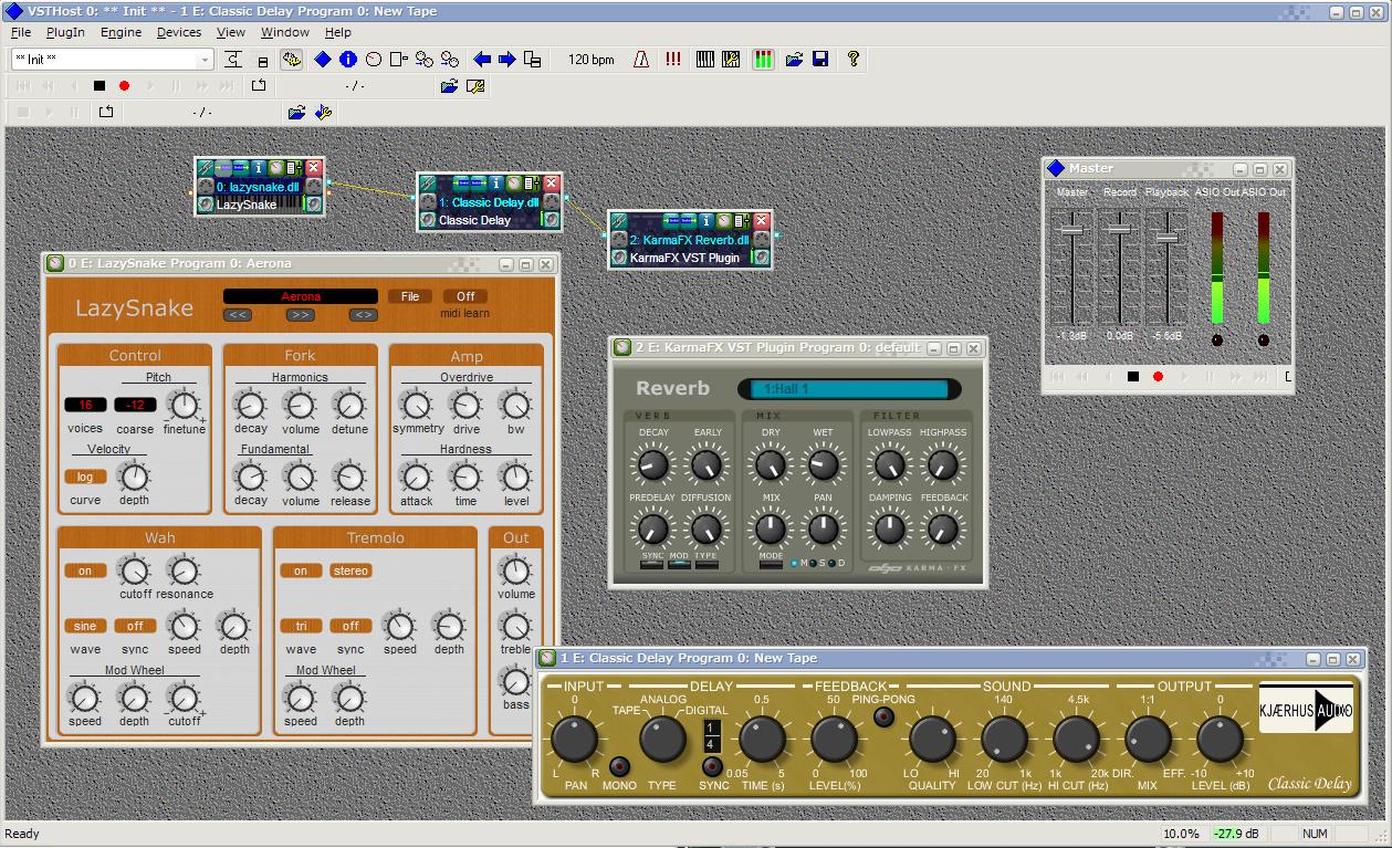 thum-vst-host 音楽マシンの空きMIDI OUTポートをメインPCのMIDI INに